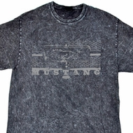 Ford Shirt Mustang Honeycomb Grille Mineral Tie Dye Shirt