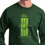 Ford Sweatshirt Green Mustang Stripe Sweat Shirt