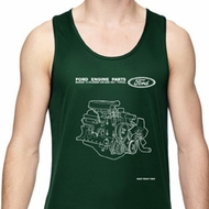 Ford Tank Top Engine Parts Dry Wicking Tanktop