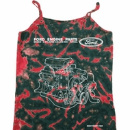 Ford Tank Top Engine Parts Ladies Tie Dye Camisole Tanktop