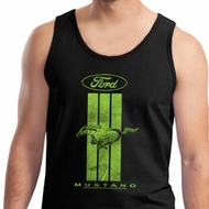 Ford Tank Top Green Mustang Stripe Tanktop
