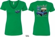 Ford Tee 1967 Mustang (Front & Back) Ladies V-neck