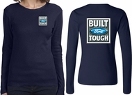 Ford Tee Built Ford Tough (Front & Back) Ladies Long Sleeve