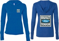 Ford Tee Built Ford Tough (Front & Back) Ladies Tri Blend Hoodie