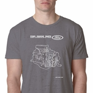 Ford Tee Engine Parts Burnout T-Shirt