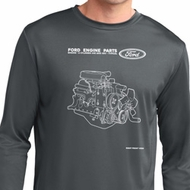 Ford Tee Engine Parts Dry Wicking Long Sleeve Shirt
