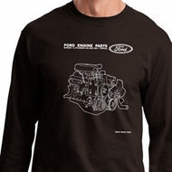 Ford Tee Engine Parts Long Sleeve Shirt