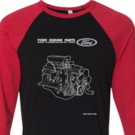 Ford Tee Engine Parts Raglan Shirt