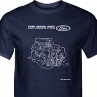 Ford Tee Engine Parts Tall T-Shirt