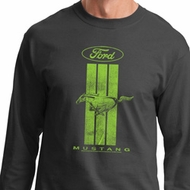 Ford Tee Green Mustang Stripe Long Sleeve
