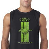 Ford Tee Green Mustang Stripe Sleeveless Shirt