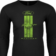 Ford Tee Green Mustang Stripe Thermal Shirt