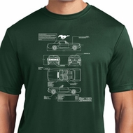Ford Tee Mustang Blue Print Dry Wicking T-shirt