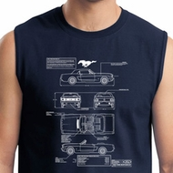 Ford Tee Mustang Blue Print Muscle Shirt