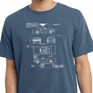 Ford Tee Mustang Blue Print Pigment Dyed T-shirt