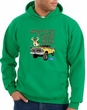Ford Truck Hoodie Driving and Tagging Bucks Kelly Green Hoody