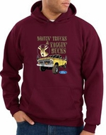 Ford Truck Hoodie Driving and Tagging Bucks Maroon Hoody
