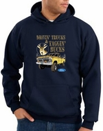 Ford Truck Hoodie Driving and Tagging Bucks Navy Hoody