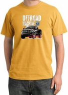 Ford Truck Pigment Dyed T-Shirt - F-150 4X4 Offroad Adult Mustard Tee