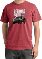 Ford Truck Pigment Dyed T-Shirt - F-150 4X4 Offroad Dashing Red Tee
