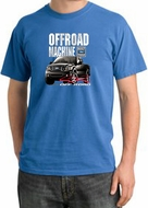 Ford Truck Pigment Dyed T-Shirt - F-150 4X4 Offroad Medium Blue Tee