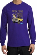 Ford Truck Shirt Driving and Tagging Bucks Long Sleeve Tee Purple