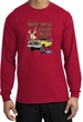 Ford Truck Shirt Driving and Tagging Bucks Long Sleeve Tee Red