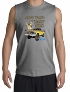 Ford Truck Shirt Driving and Tagging Bucks Muscle Shirt Sports Grey