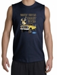 Ford Truck Shirt Driving and Tagging Bucks Navy Muscle Shirt