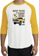 Ford Truck Shirt Driving and Tagging Bucks Raglan Tee White/Gold