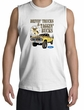 Ford Truck Shirt Driving and Tagging Bucks White Muscle Shirt