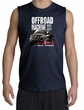 Ford Truck Shooter Shirt - F-150 4X4 Offroad Machine Navy Muscle Shirt