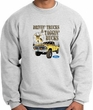 Ford Truck Sweatshirt Driving and Tagging Bucks Ash Sweat Shirt