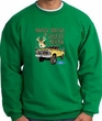 Ford Truck Sweatshirt Driving and Tagging Bucks Kelly Green