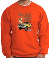 Ford Truck Sweatshirt Driving and Tagging Bucks Orange Sweat Shirt