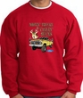 Ford Truck Sweatshirt Driving and Tagging Bucks Red Sweat Shirt