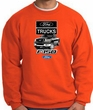 Ford Truck Sweatshirt - F-150 Truck Adult Orange Sweat Shirt