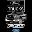 Ford Truck Sweatshirt - F-150 Truck Adult Red Sweat Shirt