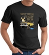 Ford Truck T-shirt - Driving and Tagging Bucks Adult Black Tee Shirt