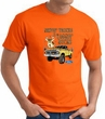 Ford Truck T-shirt - Driving and Tagging Bucks Adult Orange Tee Shirt