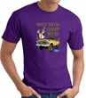 Ford Truck T-shirt - Driving and Tagging Bucks Adult Purple Tee Shirt
