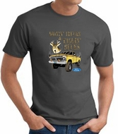 Ford Truck T-shirt Driving and Tagging Bucks Charcoal Tee Shirt