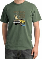 Ford Truck T-Shirt Driving and Tagging Bucks Pigment Dyed Tee Olive