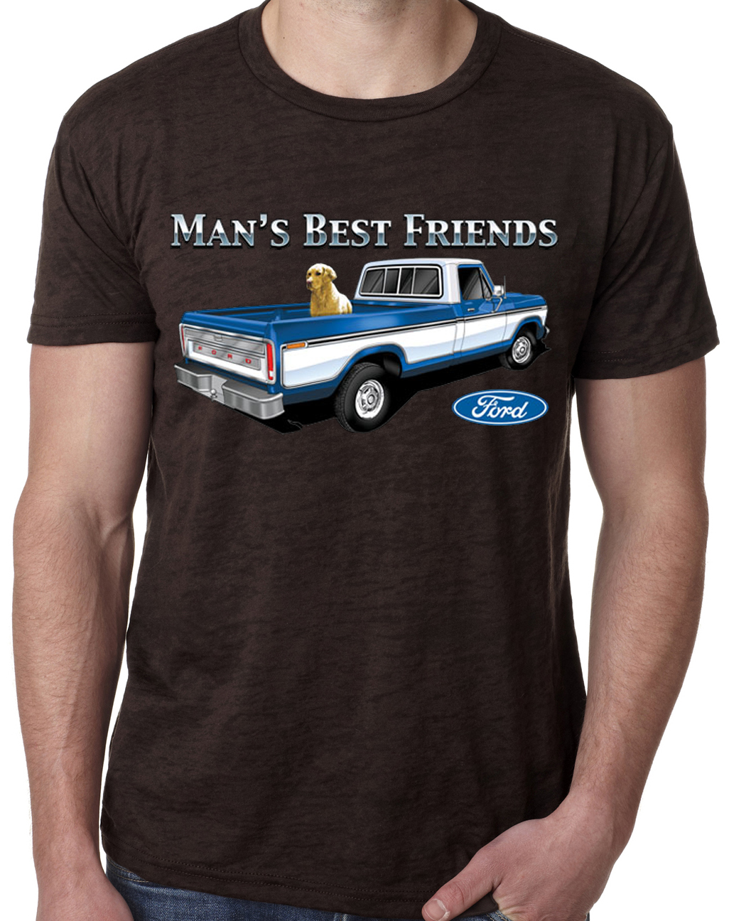 ford trucks shirt man 39 s best friend mens burnout tee t. Black Bedroom Furniture Sets. Home Design Ideas