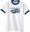 Ford Trucks T-Shirt Mans Best Friend Ringer Tee White/Navy