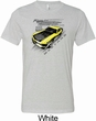 Ford Vintage Yellow Mustang Boss Mens Tri Blend Crewneck Shirt