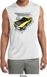 Ford Vintage Yellow Mustang Boss Sleeveless Mens Dry Wicking Shirt