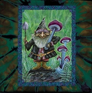 Forest Gnome Mystical New Age Adult Unisex Tie Dye T-shirt Tee Shirt