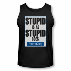 Forrest Gump Tank Top Stupid Is As Stupid Does Black Tanktop