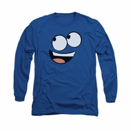 Foster's Home For Imaginary Friends Shirt Long Sleeve Blue Face Royal Blue Tee T-Shirt